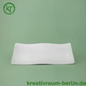 Wellen Teller klein Keramikrohling
