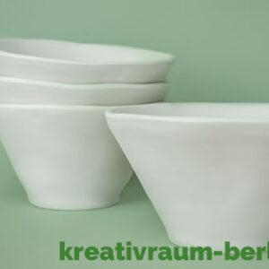 unrunde Schale Set Keramik bemalen